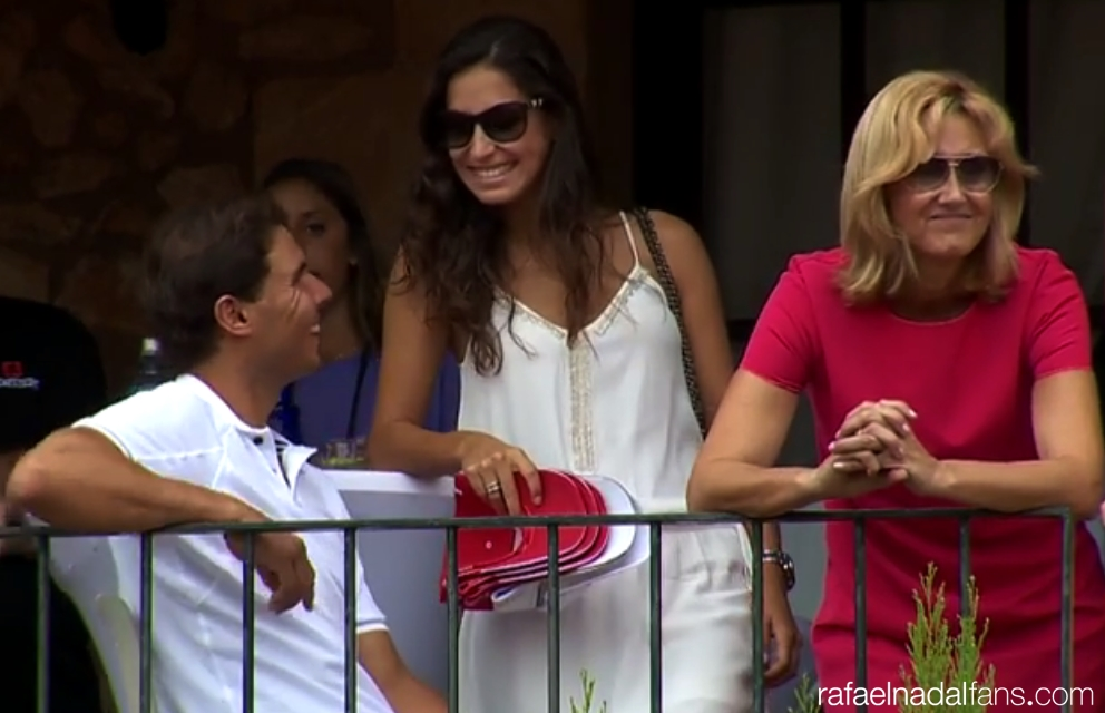 Team Rafa Nadal Foundation Rafa Nadal S Girlfriend Maria Francisca Perello And Mother Ana Maria Parera Rafael Nadal Fans