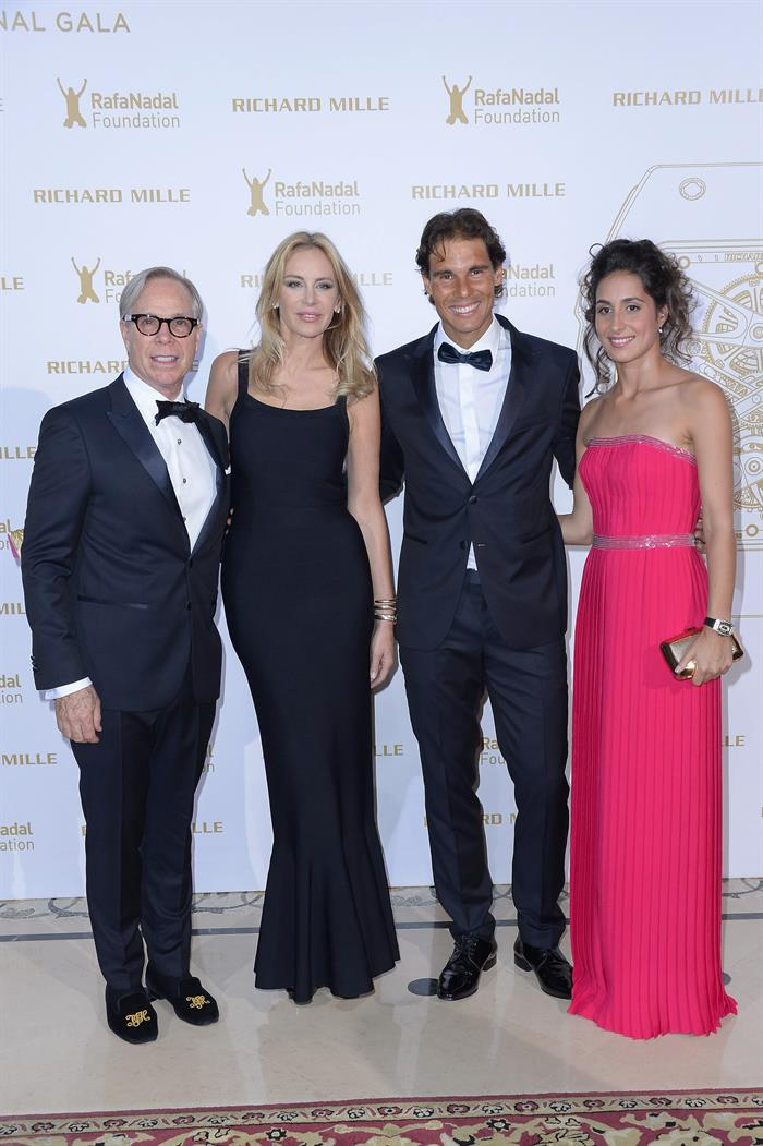 Tommy Hilfiger His Partner Dee Ocleppo Rafael Nadal And His Girlfriend Maria Xisca Perello Attend Gala For The Rafa Nadal At Foundation In Paris Rafael Nadal Fans