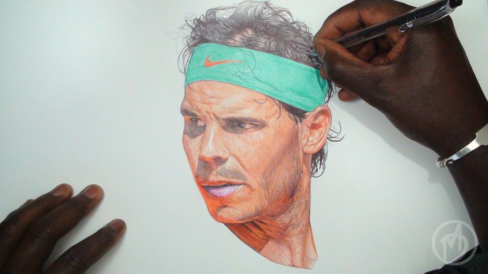 An Artist Draws An Amazingly Lifelike Picture Of Rafael Nadal Rafael Nadal Fans