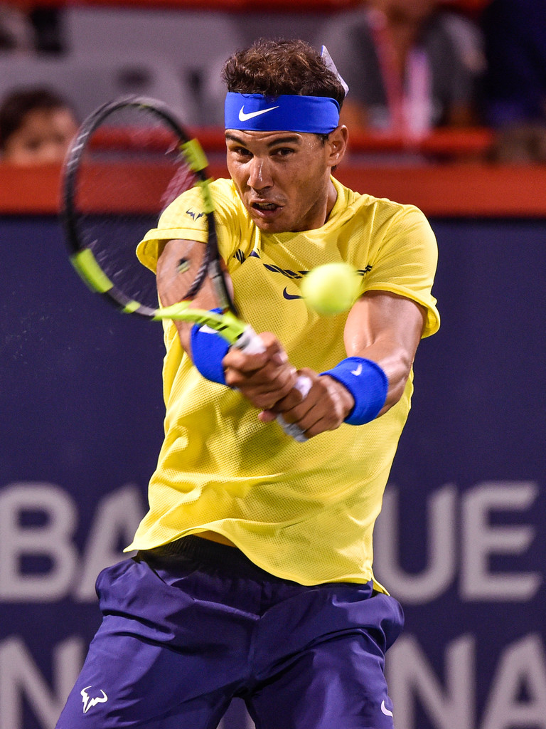 Rafael Nadal In Action Against Denis Shapovalov In Montreal Third Round 2017 Rogers Cup 3 Rafael Nadal Fans