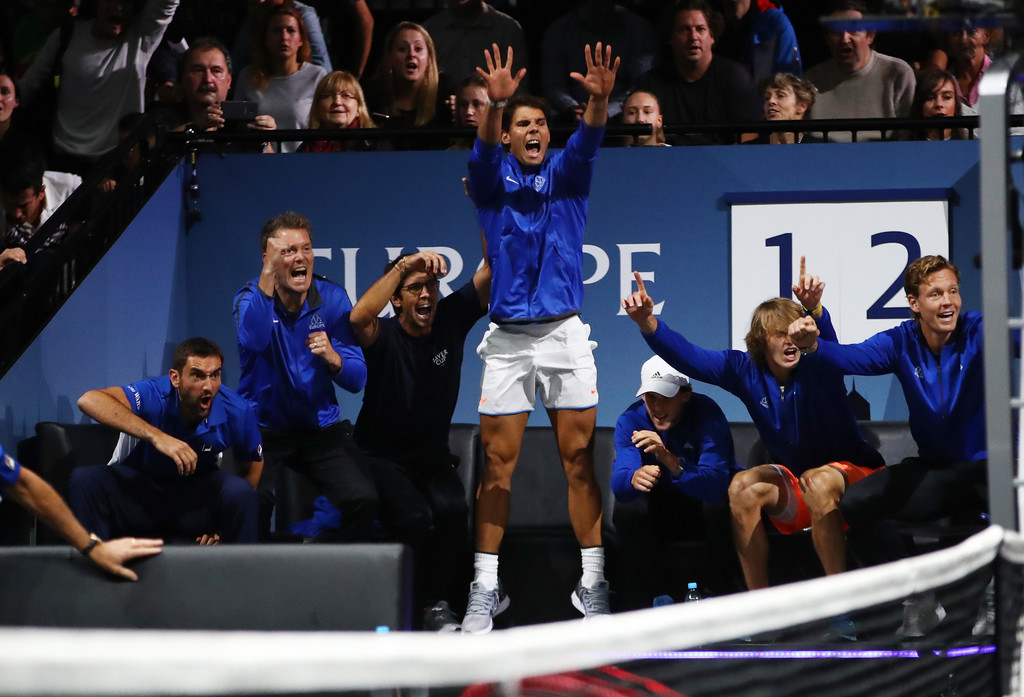 Rafael Nadal Cheers On Roger Federer At Laver Cup 2017 Day 3 1 Rafael Nadal Fans