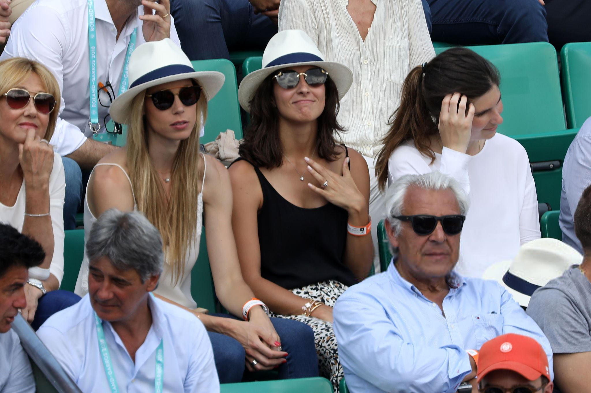 Rafael Nadal Mother Sister And Girlfriend Fourth Round 2018 Roland Garros Photo Rafael Nadal Fans