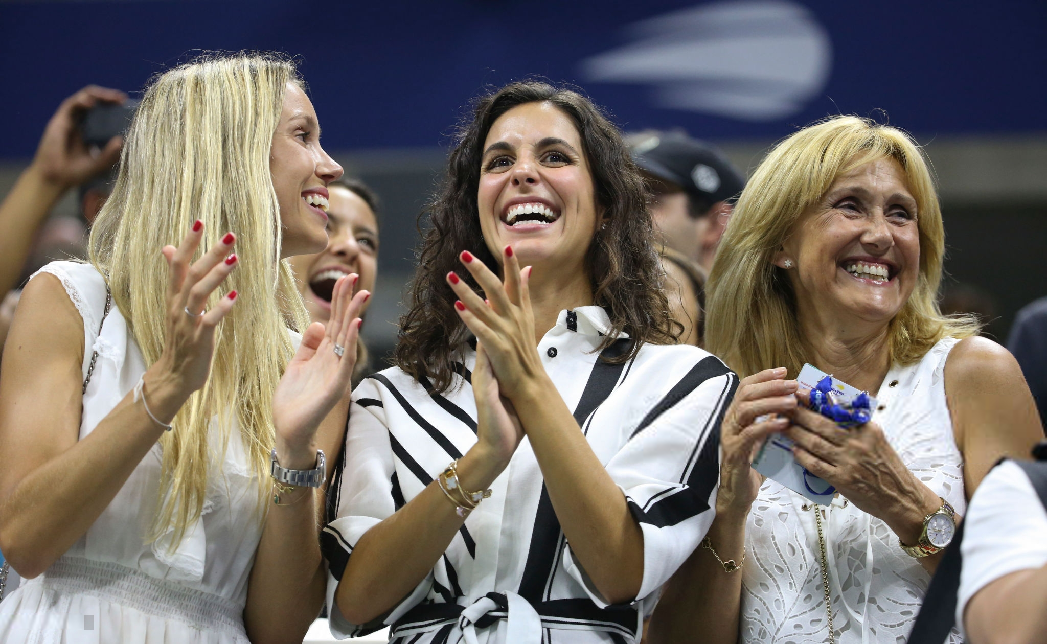 rafael nadal girlfriend sister and mother at us open 2018