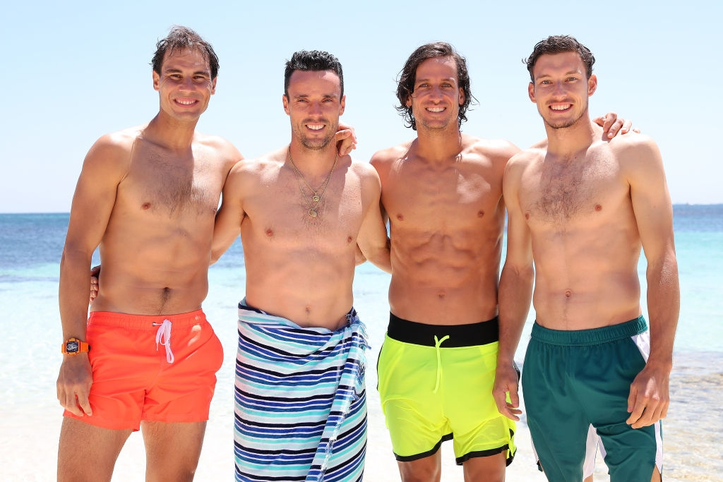 Shirtless Rafael Nadal Enjoying The Beaches In Perth With His Team Mates 2019 Photo 10 Rafael Nadal Fans